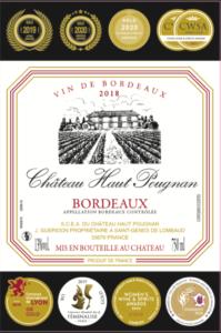 Bordeaux AOC du Château Haut Pougnan
