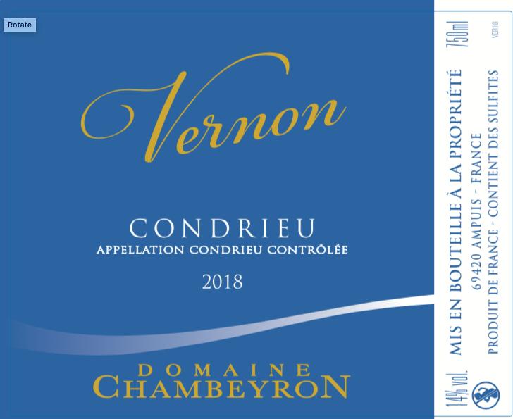 Condrieu Vernon Domaine Chambeyron