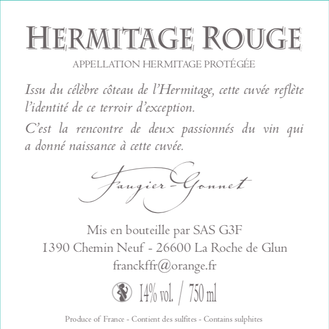 Hermitage Rouge Faugier Gonnet