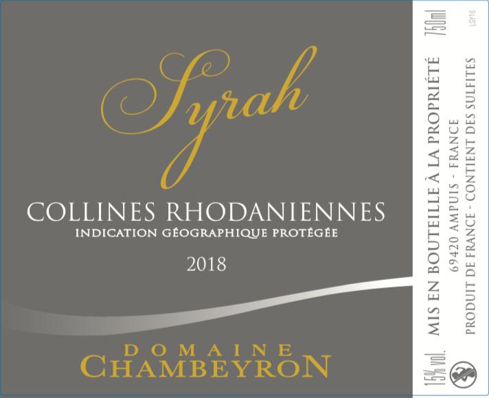Syrah IGP Domaine Chambeyron
