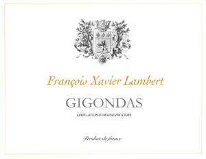 Gigondas François Xavier Lambert